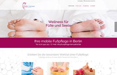 Bild WordPress Homepage Fusspflege